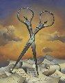 Always Together 2003 14x16 Original Painting - Vladimir Kush