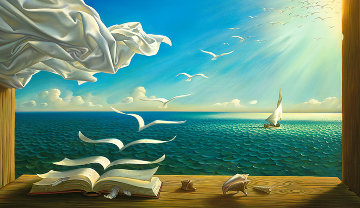 Diary of Discoveries Limited Edition Print - Vladimir Kush