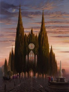 Purple Horse At Chartres 2006 Limited Edition Print by Vladimir Kush