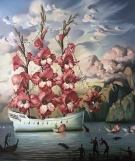 Arrival of the Flower Ship 2001 Limited Edition Print - Vladimir Kush