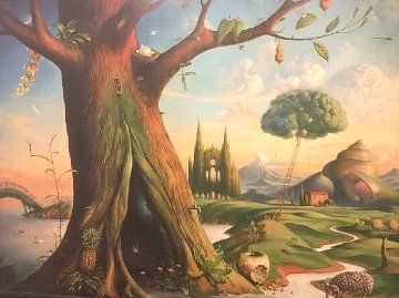 Tree of Life 58x78 Limited Edition Print by Vladimir Kush
