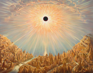 Eclipse Super Huge Limited Edition Print - Vladimir Kush
