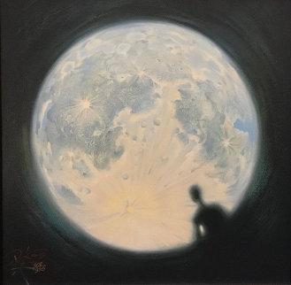 Moon Watch 2012 Limited Edition Print by Vladimir Kush