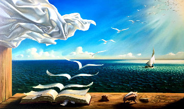 Diary of Discoveries Limited Edition Print by Vladimir Kush
