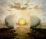 Sunrise By the Ocean 1996 Limited Edition Print - Vladimir Kush