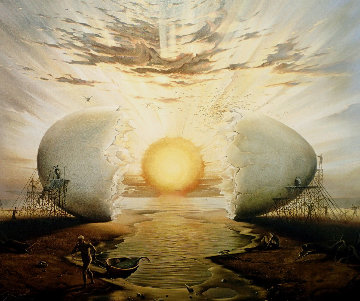 Sunrise By the Ocean 1996 Limited Edition Print - Vladimir Kush