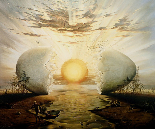 Sunrise By the Ocean 1996 Limited Edition Print by Vladimir Kush