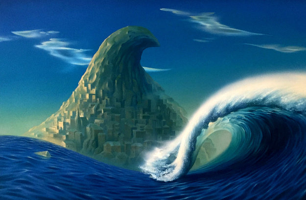 Wave 1992 32x44 Original Painting by Vladimir Kush