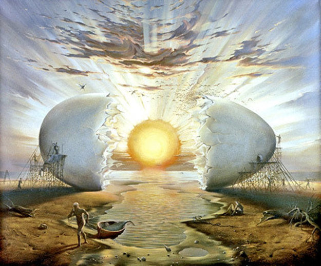 Sunrise By the Ocean Limited Edition Print by Vladimir Kush
