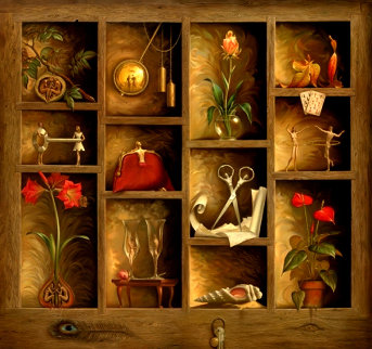 Matrix of Love 2012 Limited Edition Print by Vladimir Kush