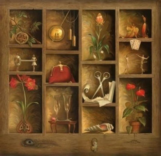 Matrix of Love Huge Limited Edition Print - Vladimir Kush