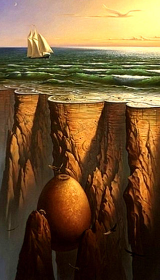 Journey Along the Edge of the Earth Limited Edition Print by Vladimir Kush