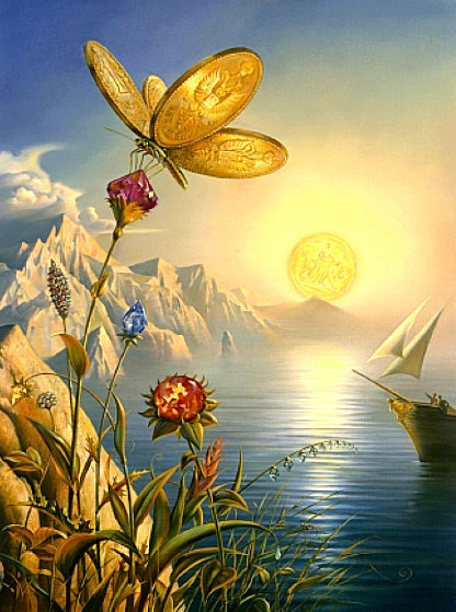 Treasure Island Limited Edition Print by Vladimir Kush