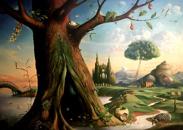 Tree of Life 2015 Super Huge 42x56 Limited Edition Print - Vladimir Kush