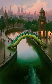 Fish in the City Limited Edition Print - Vladimir Kush