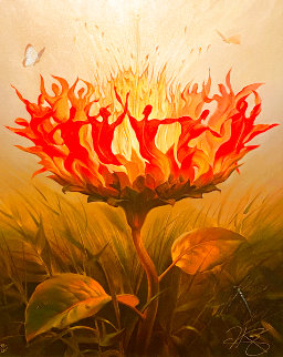 Fiery Dance 2001 Limited Edition Print - Vladimir Kush