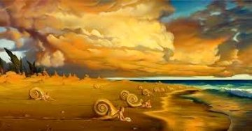 Sunset on the Beach 2000 Limited Edition Print - Vladimir Kush