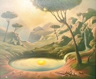 Breakfast on the Lake 2000 Limited Edition Print by Vladimir Kush - 2