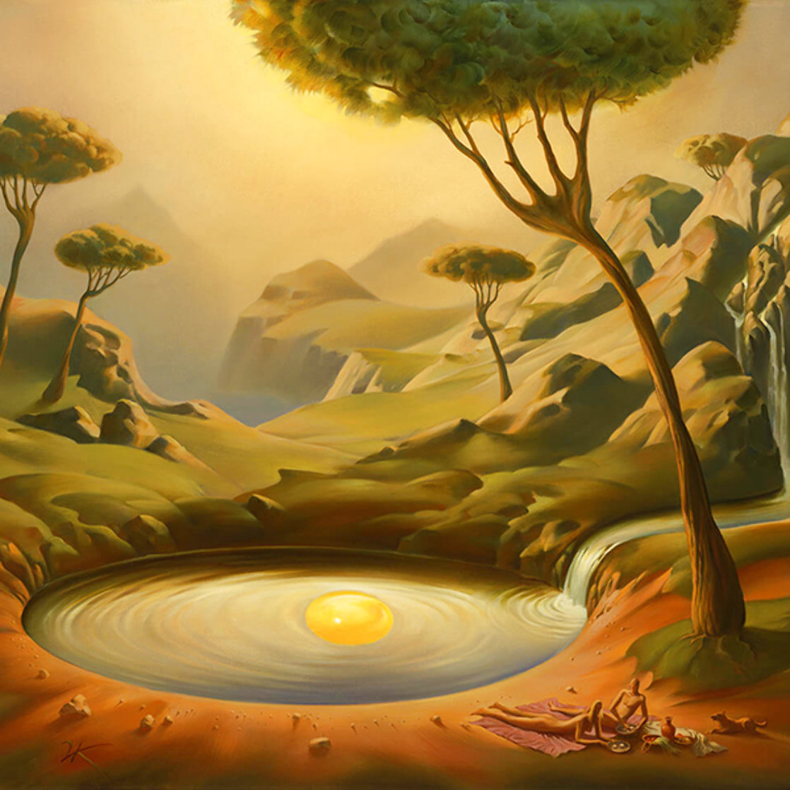Breakfast on the Lake 2000 Limited Edition Print by Vladimir Kush
