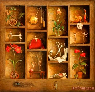 Matrix of Love 2000 Limited Edition Print - Vladimir Kush