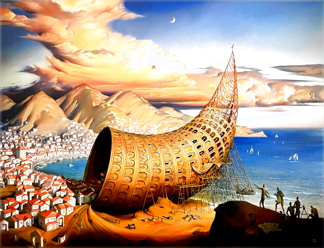 Horn of Babel 2013 Limited Edition Print by Vladimir Kush