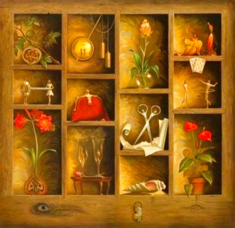 Matrix of Love Super Huge Limited Edition Print - Vladimir Kush