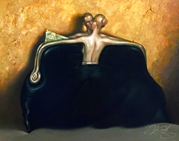 Purse (Black) 1999 17x20 Limited Edition Print - Vladimir Kush