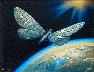 Winged Satellite 2006 Limited Edition Print - Vladimir Kush