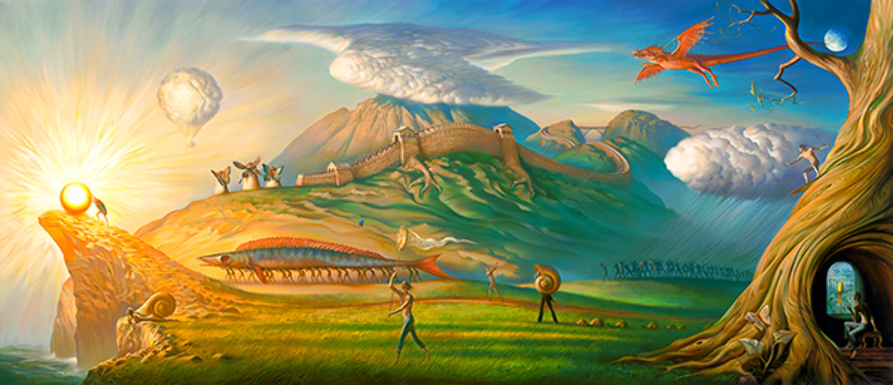 Human Way 2018 Embellished 112 Inches Limited Edition Print by Vladimir Kush