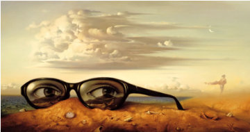 Forgotten Sunglasses Limited Edition Print - Vladimir Kush