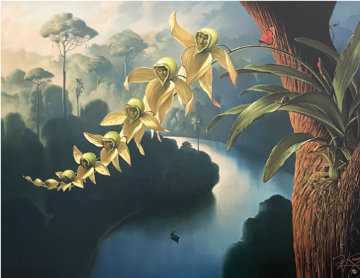 Orchid Family Rollercoaster Limited Edition Print - Vladimir Kush