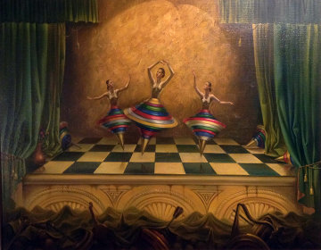 Three Graces 1998 41x49 Original Painting - Vladimir Kush