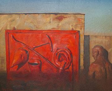 Fireworks 1989 35x41 Original Painting - Vladimir Kush