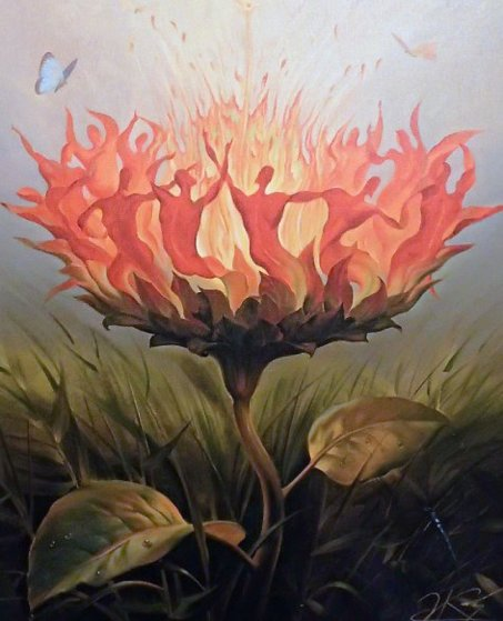 Fiery Dance 2001 Limited Edition Print by Vladimir Kush