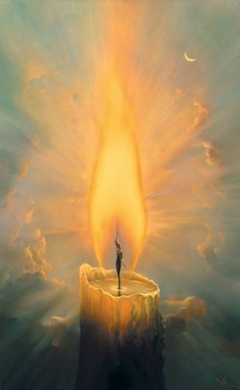 Candle 2000 Limited Edition Print by Vladimir Kush
