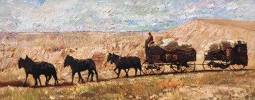 Long Span 2009 22x55 Original Painting by Vladimir Mukhin