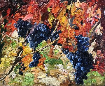 Grapes 2017 24x28 Original Painting by Vladimir Mukhin