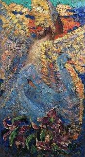 Swan's Song 2016 60x32 Original Painting - Vladimir Mukhin