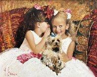 Secret 2016 34x42 Original Painting by Vladimir Mukhin - 0