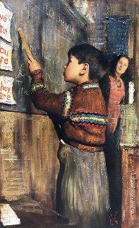English Class 2009 52x31 Original Painting by Vladimir Mukhin