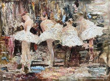 Behind the Scenes 36x48 Huge Original Painting - Vladimir Mukhin
