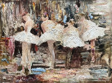 Behind the Scenes 36x48 Original Painting by Vladimir Mukhin