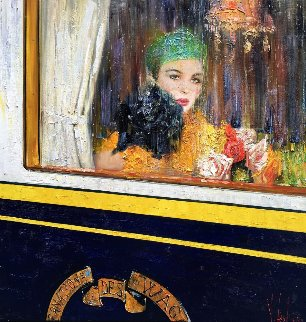 East Express 2008 36x36 Original Painting by Vladimir Mukhin