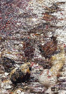 Chickens and Rowan 2011 70x50 Huge Original Painting - Vladimir Mukhin
