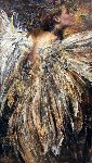 Angel 2016 56x32 Original Painting - Vladimir Mukhin
