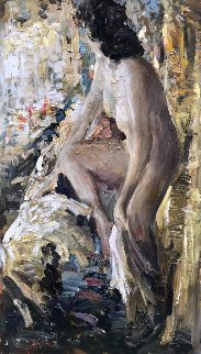 Boudoir 2017 56x32 Original Painting - Vladimir Mukhin