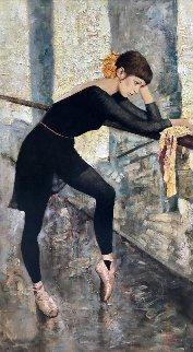 In Ballet Class 2015 54x30 Original Painting by Vladimir Mukhin