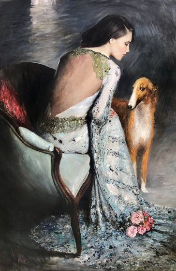 Muse And the Dog 2015 59x39  by Vladimir Mukhin