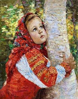Alenushka 2017 38x32 Original Painting - Vladimir Mukhin