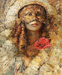 Masquerade 2017 34x30 Original Painting - Vladimir Mukhin